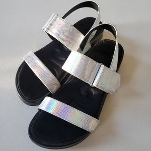 Holographic Velcro Sandals
